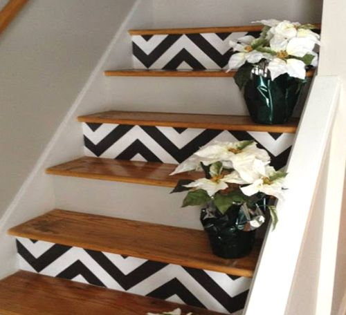 Chevron stairs from Simple Dwellings