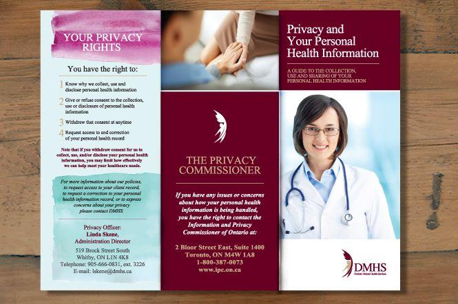 Leaflet design for Health Service by New Design Group