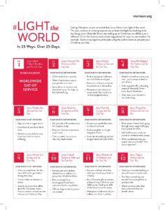 Light the World: 2016 LDS Christmas Initiative, Advanced Information   LDS Media Talk