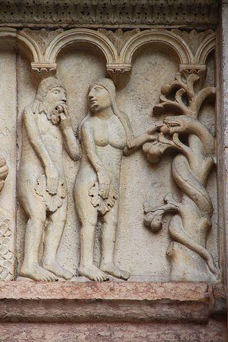 Catedral de Modena,relieve romanico  Italia