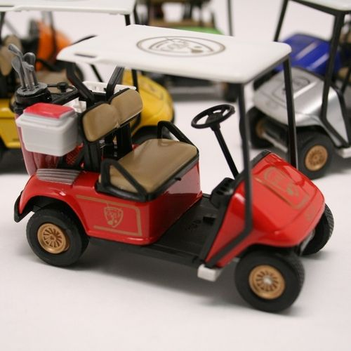 Get your dad his very own golf cart this father's day.  There great die cast gold carts come in assorted colors and all have a great golf cart design.  The golf cart has pull back action and will also work as a fun centerpiece at any golf party or event. $4.49