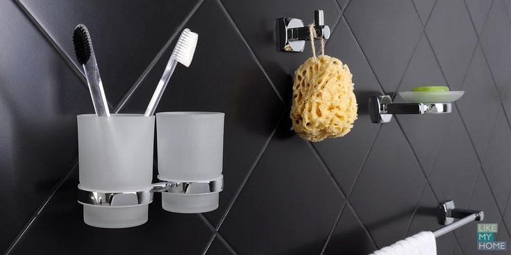 Ice Торговая марка: BISK Плавные линии, скругленные углы делают силуэт предметов легче, а морозный блеск металла и будто покрывшееся легким инеем матовое стекло наполняют интерьер ванной комнаты свежестью. Набор для ванной Ice BISK можно купить в интернет-магазине Likemyhome.ru Доставка по всей России. #likemyhome #bisk #ванна #аксессуары #декор #интерьер #дизайн