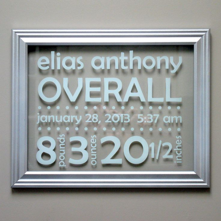 Newborn Birth Details Framed Sign - Suspended Moments