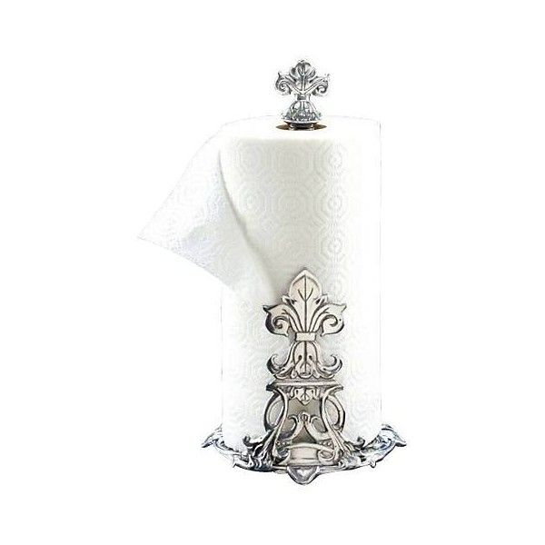 Arthur Court Fleur-de-Lis Paper Towel Holder (€47) ❤ liked on Polyvore featuring home, kitchen & dining, kitchen gadgets & tools, fleur de lis paper towel holder and arthur court designs