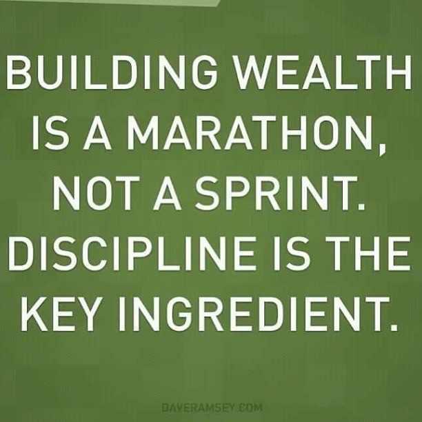 Building wealth is a marathon, not a sprint. Discipline is the key ingredient.
