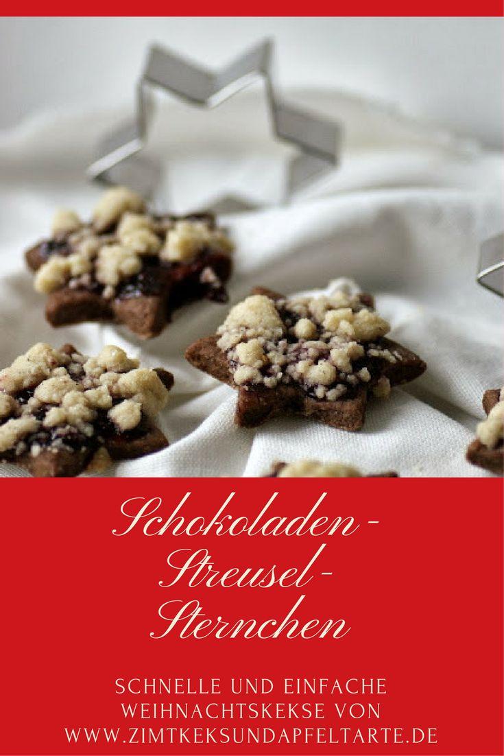 Einfache und schnelle Weihnachtskekse: meine Schoko-Streusel-Sternchen...leckeres Rezept mit easy peasy Anleitung für diese Cookies... Plätzchen, wie sie Jeder zu Weihnachten mag!