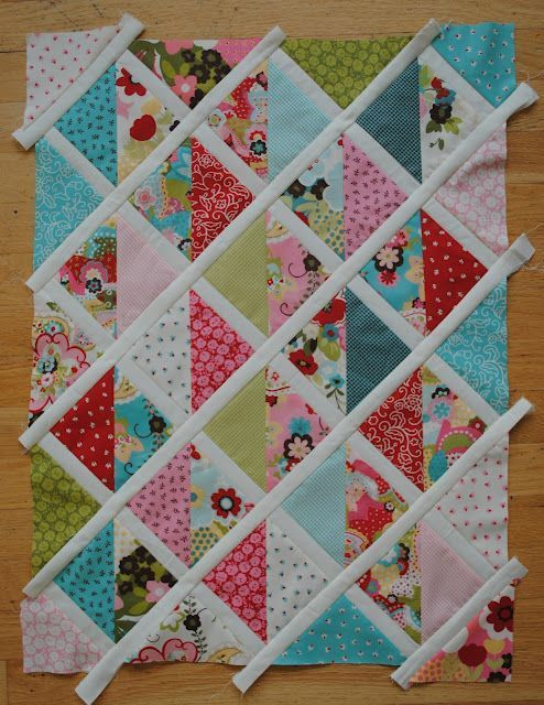 Cute baby quilt in the making