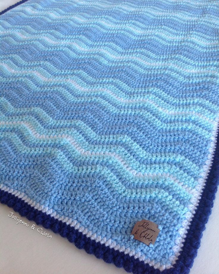 "239 Likes, 6 Comments - Jen and Chlo (@jollijenniandchlola) on Instagram: ""One of the most calming blankets I've ever made I think   Pattern: Neat Ripple and bobble border…"""