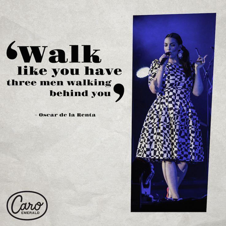 """Walk like you have three men walking behind you"" - Oscar de la Renta. Dress by: SUZANNAH"