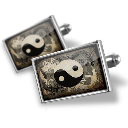 "Neonblond Cufflinks ""Yin and yang, ying dragon"" - cuff links for man NEONBLOND Cufflinks. $29.90. We have more then 4000 different Cufflinks. Standard Size is approximately 19mm x 12mm. Products are Assembled in America. Comes with our Free Velvet / Satin Bag. Unique Gift for the Modern Classic Man. Save 50%!"