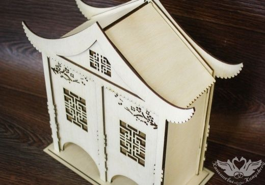 Заготовка для творчества. Чайный домик в китайском стиле №2