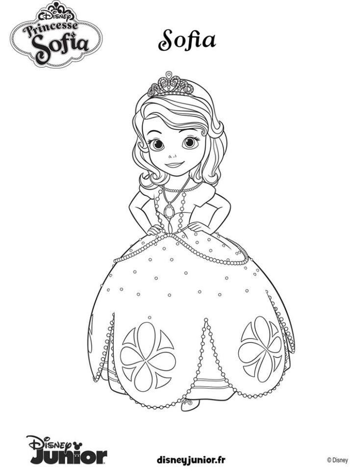 Sofia the First Coloring Page | Scene, Birthdays and Craft