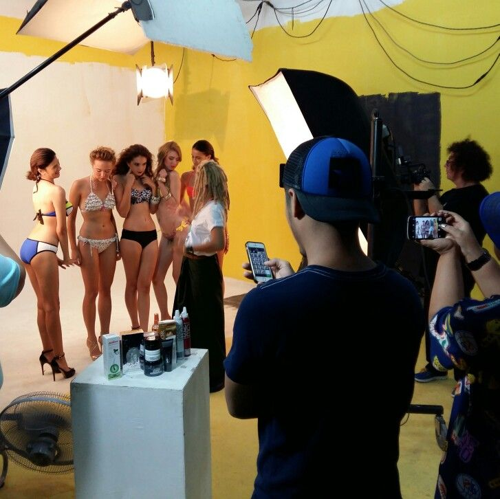 Behind the scene...FTV Shooting in Bangkok...new collection of swimwear.