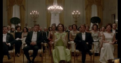 New party member! Tags: applause clapping standing o natalie portman jackie standing ovation