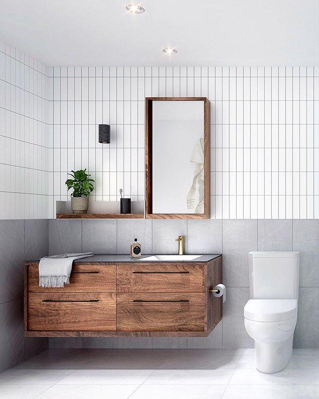 // @chamberlainarchitects @rogerseller @merri.green. Team DS. X #bathroom #bathroomdesign #bathroominspiration #bathroominspo #australiandesign #australianinteriors #australianinteriordesign #melbourne #chamberlainarchitects #rogerseller #brasstap #brasstapware #walnutwood