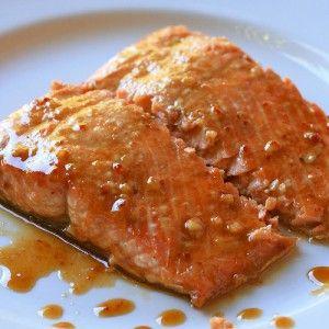 Ginger-soy glazed salmon recipe