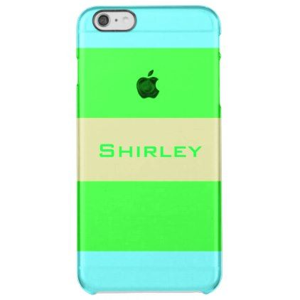 Yellow Green Blue Wide Stripes by Shirley Taylor Clear iPhone 6 Plus Case - pattern sample design template diy cyo customize