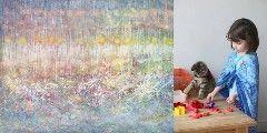 イギリスに住む6歳の少女、アイリス・グレイス・カータージョンソンちゃんが描きだす絵には、世界中に多くの愛好家がいます。www.irisgracepainting.comアンジェリーナ・ジョリー&ブラッド・ピット夫妻や、アシュトン・カッチャーといったハリウッドセレブのファンも多いそうです。自閉症のセラピーとしてスタートモネの美しい水彩画や抽象画家のジャクソン・ポロックとも比較されるアイリスちゃんのアート。描き始めたのは「セラピーのため」だったそうです。アイリスちゃんは自閉症で、言葉やコミュニケーションが苦手。言葉の発達を促すセラピーの一環として始めた絵を描くという行為が、アイリスちゃんには合ってい