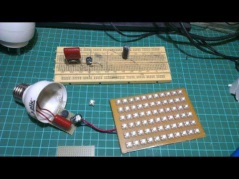 Lampara led casera 12v, facil y segura, easy DIY lamp - YouTube