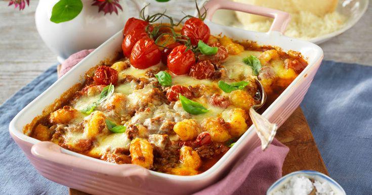 Köttfärsgratäng med gnocchi