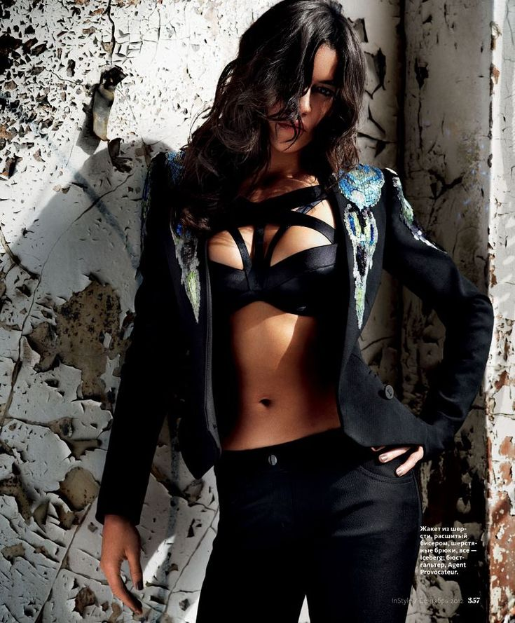 Michelle Rodriguez photographed by David Mandelberg for InStyle Russia, September 2012