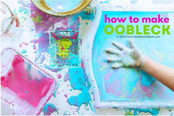 How to Make Oobleck | Oobleck Activities