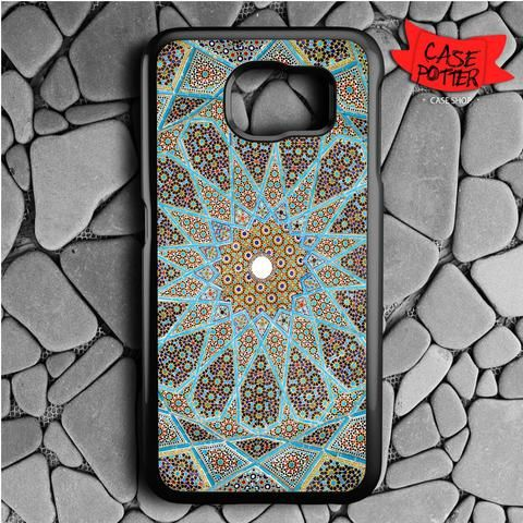 Mandala Pattern Art Samsung Galaxy S7 Black Case