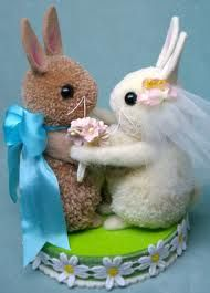 pom pom bunnies wedding - Google Search