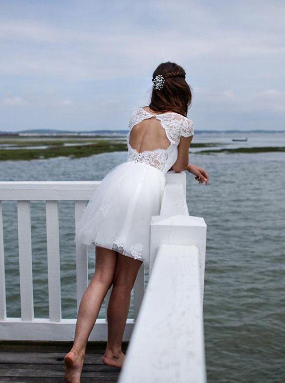 Short Beach Wedding Dress