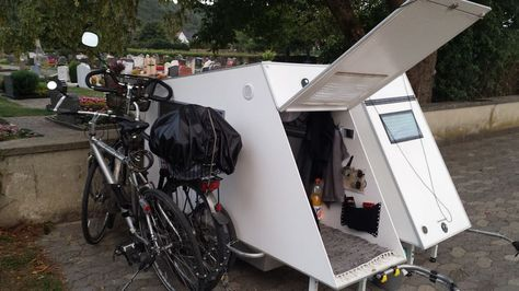 200 best bicycle campers bicycle trailers images on pinterest bicycles bicycle and camper. Black Bedroom Furniture Sets. Home Design Ideas