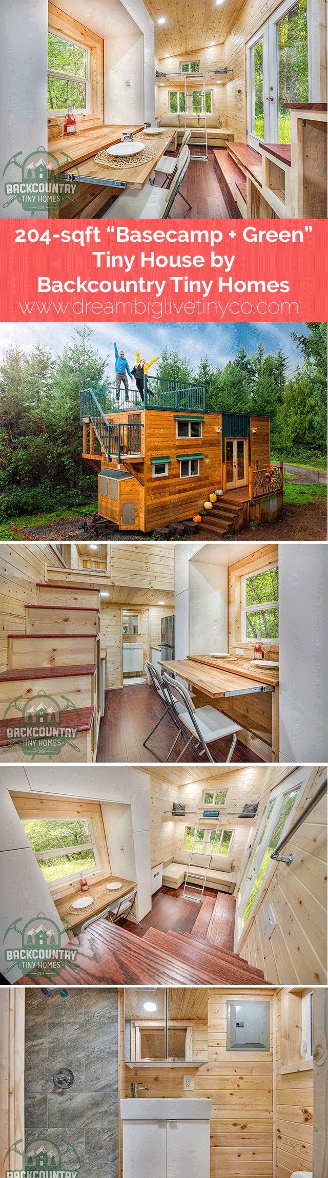 "204-sqft ""Basecamp + Green"" Tiny House by Backcountry Tiny Homes"