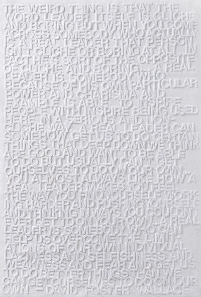 David Foster Wallace on Leadership Art Print
