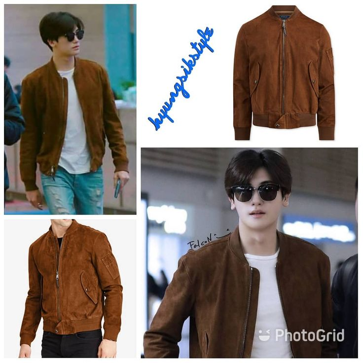"""24 Likes, 1 Comments - HyungsikStyle (@hyungsikstyle) on Instagram: """"👕 POLO RALPH LAUREN Men's Suede Bomber Jacket, Country Brown ($795) 📆 2017.11.09 Incheon Airport 🛫…"""""""