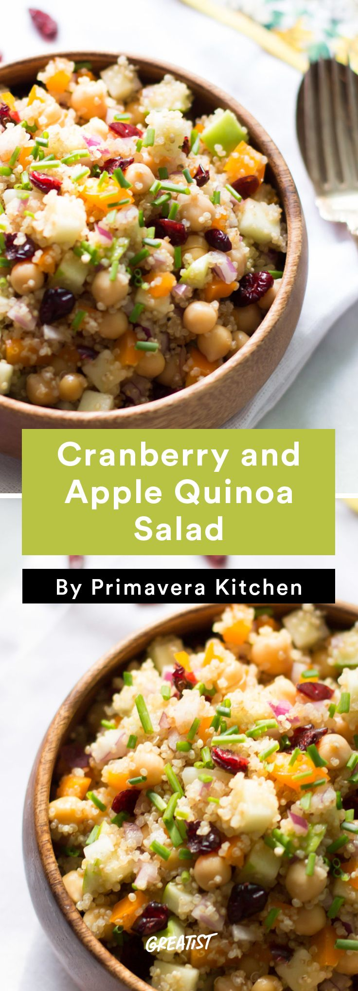 7. Cranberry and Apple Quinoa Salad #healthy #fall #brunch #recipes http://greatist.com/eat/brunch-recipes-for-fall