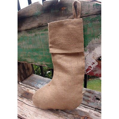 Plain Christmas Stockings for DIY Handmade Projects, Burlap / Linen