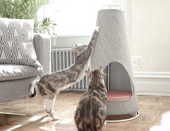Introducing The Cone, a new modern scratching post and nap space that you'll love as much as your cat does.