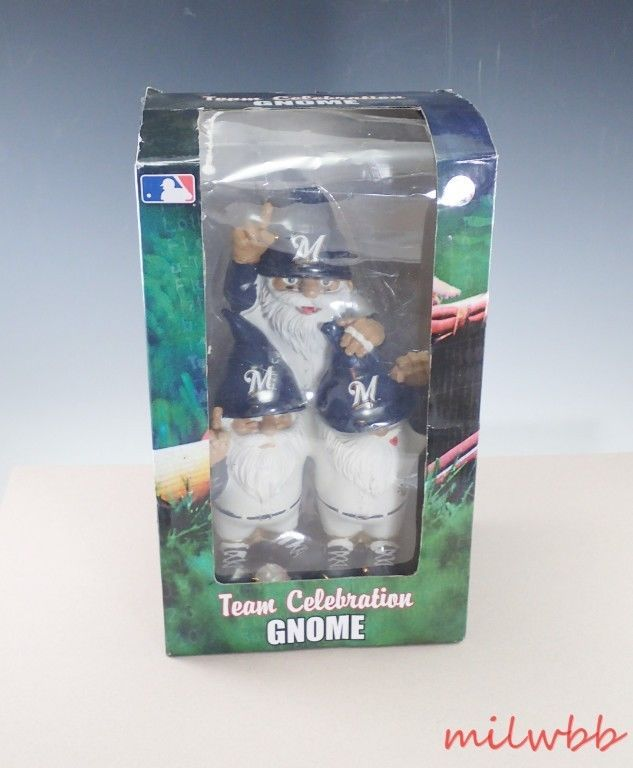 Milwaukee Brewers Team Celebration Gnome Forever Collectibles #MilwaukeeBrewers