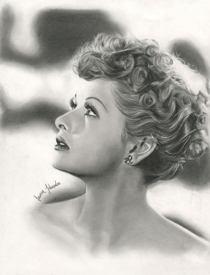 Lucille Ball, done in pencil. - Imgur
