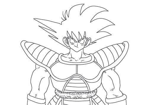 Goku Super Saiyan Para Colorear: Goku Super Saiyajin Para Colorir