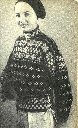 Med snøring. Fra kofteboka 1953.