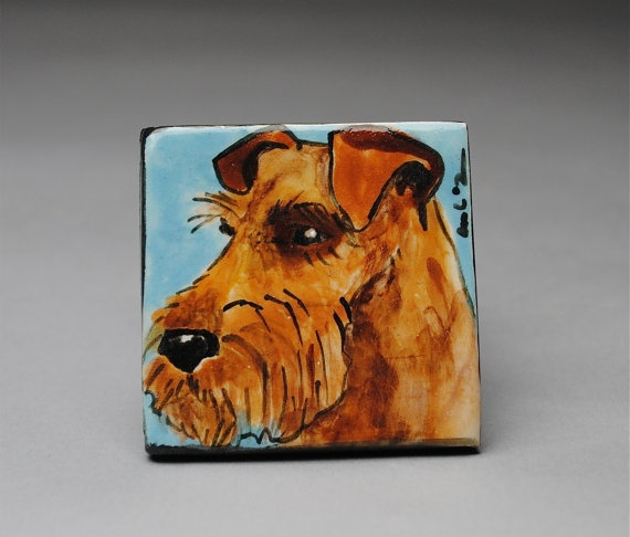 Clay Magnet Welsh Terrier by AmeliaCosta on Etsy, $8.00