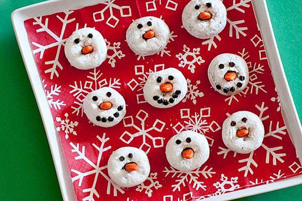 Snowman doughnut
