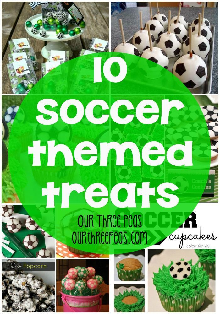 10 Soccer Themed treats, perfect for any birthday or season-end party! | Our Three Peas