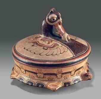 Lidded Vessel of a World Turtle - Ancient Mayan Art