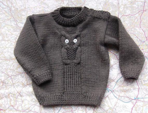 Hand Knitted Baby Jumper Sweater 6 Months by HandKnittedYorkshire