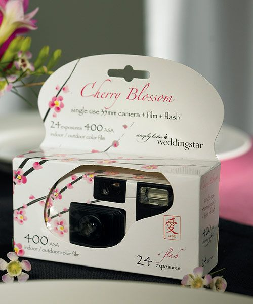 Cherry Blossom themed disposable camera.