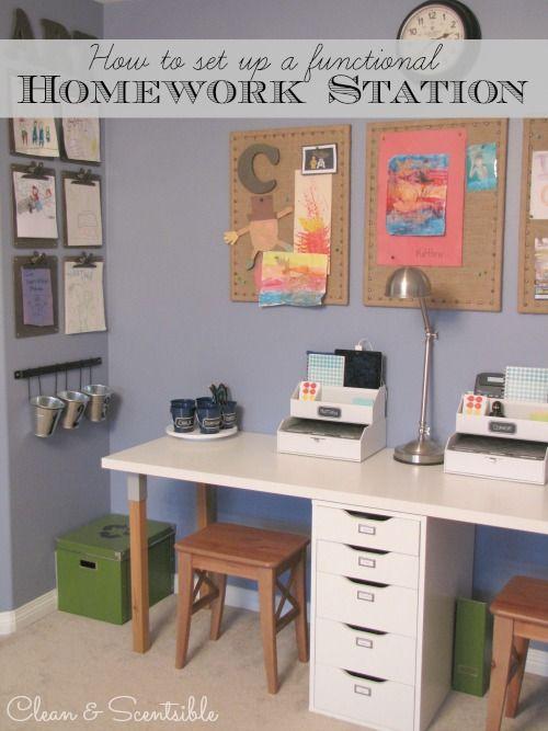 Kids Homework Station - Clean & Scentsible