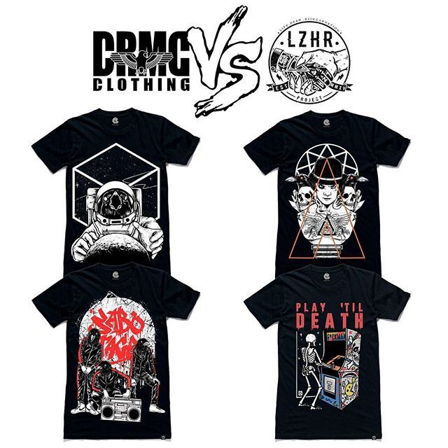"CRMC X @Lzhra Tees From top left; ""Luna Cubi Matrix"" Tee ""Orange Odyssey"" Tee ""Sabotage"" Tee ""Play 'Til Death"" Tee Part of our upcoming CRMC vs Artists Collab Collection, set to drop on the 22nd of March. #astronaut #moon #darksideofthemoon #tattoos #Luna #fashion #blackcube #Saturn #blackwear #black #loveblack #iloveblack #alternative #alternativewear #alternativestreetwear #alt #altwear #dark #darkwear #streetwear"