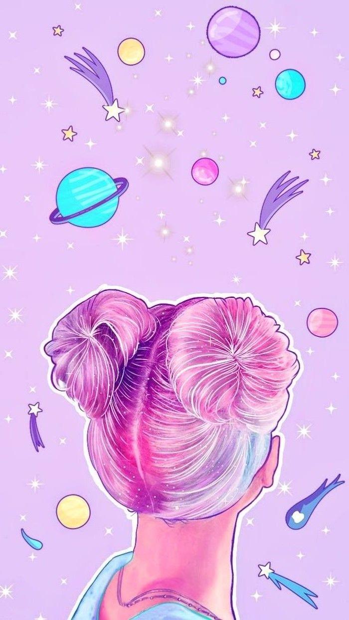 Galaxy Space Buns Unicorn Wallpaper Cute Unicorn Wallpaper Cute Love Wallpapers