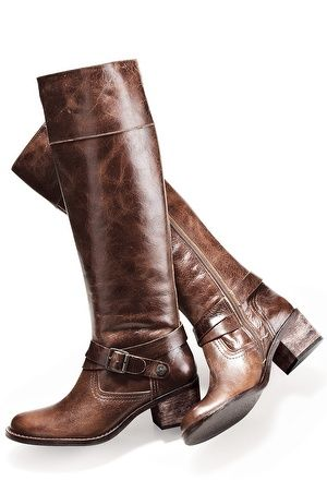 Buckle harness riding boot - Boston Proper